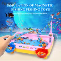 Peradix Fishing Game Hunting Ducks Game Magnetic Plastic Swimming Fish Angling Electric Toy Multifunction Toys