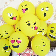 Mixed Large and Thick Yellow Expression Balloon with A Round Smile Multi - Version of The Lovely Latex Color