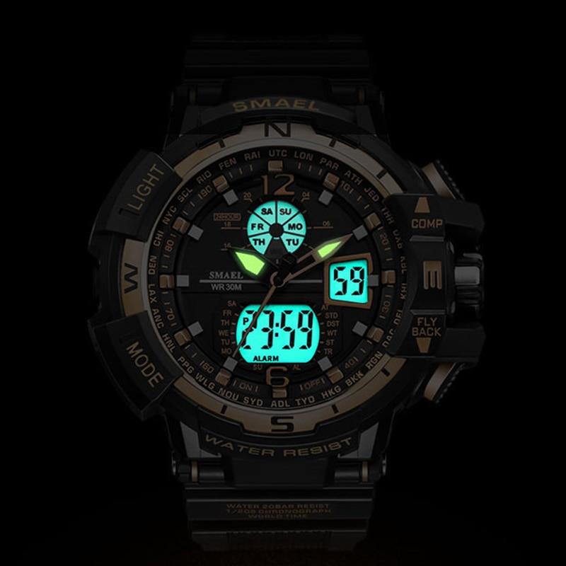 SMAEL Marca Reloj Deportivo Hombres Nueva Moda Impermeable Reloj - Relojes para hombres - foto 5