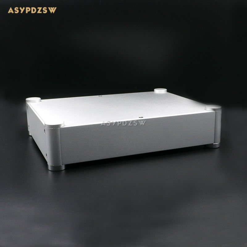 3206 Amplifier aluminum rounded chassis Preamplifier/DAC/Amp case Decoder/Tube amp enclosure box 320*76*250mm wa60 full aluminum amplifier enclosure mini amp case preamp box dac chassis