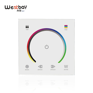 Image 1 - RGBW Touch Panel Switch Crystal DC12 24V Controller Light Dimmer Switch LED Strip Light Switch Tempered Glass Wall Switch