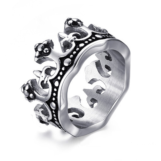 The King Crown Ring For Men Quality Titanium Steel Ring
