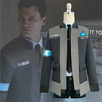 Interactive Film Detroit: Become Human Connor Cosplay Costumes Adult Boys Masquerade Free Shipping