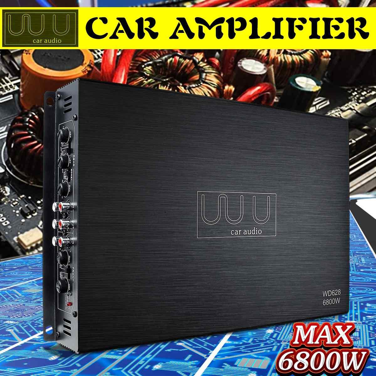 DC 12V 6800W 4 Canal Amplificador De Áudio Estéreo Do Carro Amplificadores De Áudio Amplificadores De Áudio Do Carro Subwoofer Falante de Graves Carro amplificador