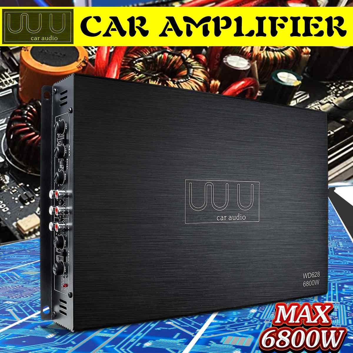 DC 12V 6800W 4Channel Car Amplifier Audio Stereo Bass Speaker Car Audio Amplifiers Subwoofer Car Audio Amplifiers Amplificador