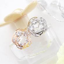 Блестящие циркониевые серьги-гвоздики для женщин bijoux модные ювелирные изделия женский подарок