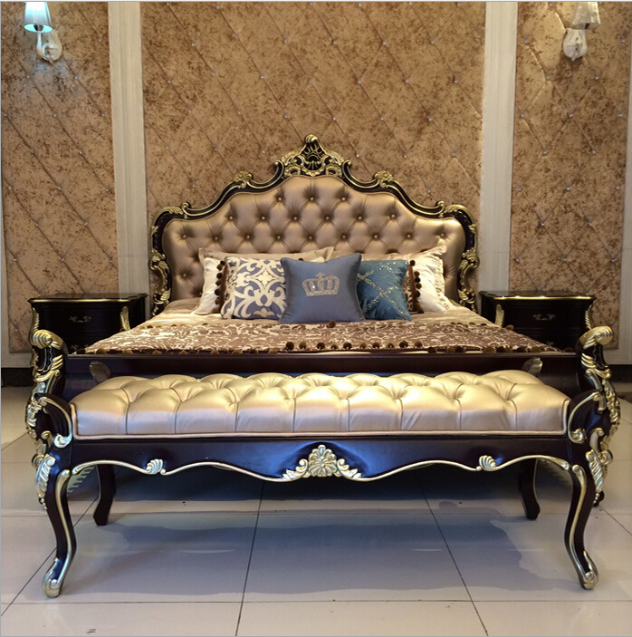 High Quality European Modern Bed French Bed Bedroom