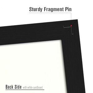 Image 4 - A3 mantar pano renkli MDF ahşap çerçeve fotoğrafları bülten tahtası mesaj hatırlatıcı panosu 30*40cm mantar Pin panoları ev aksesuarları ile