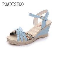 H Women S Wedges Sandals Platform Shoes Platform Straw Braid Color Block High Heeled Shoes