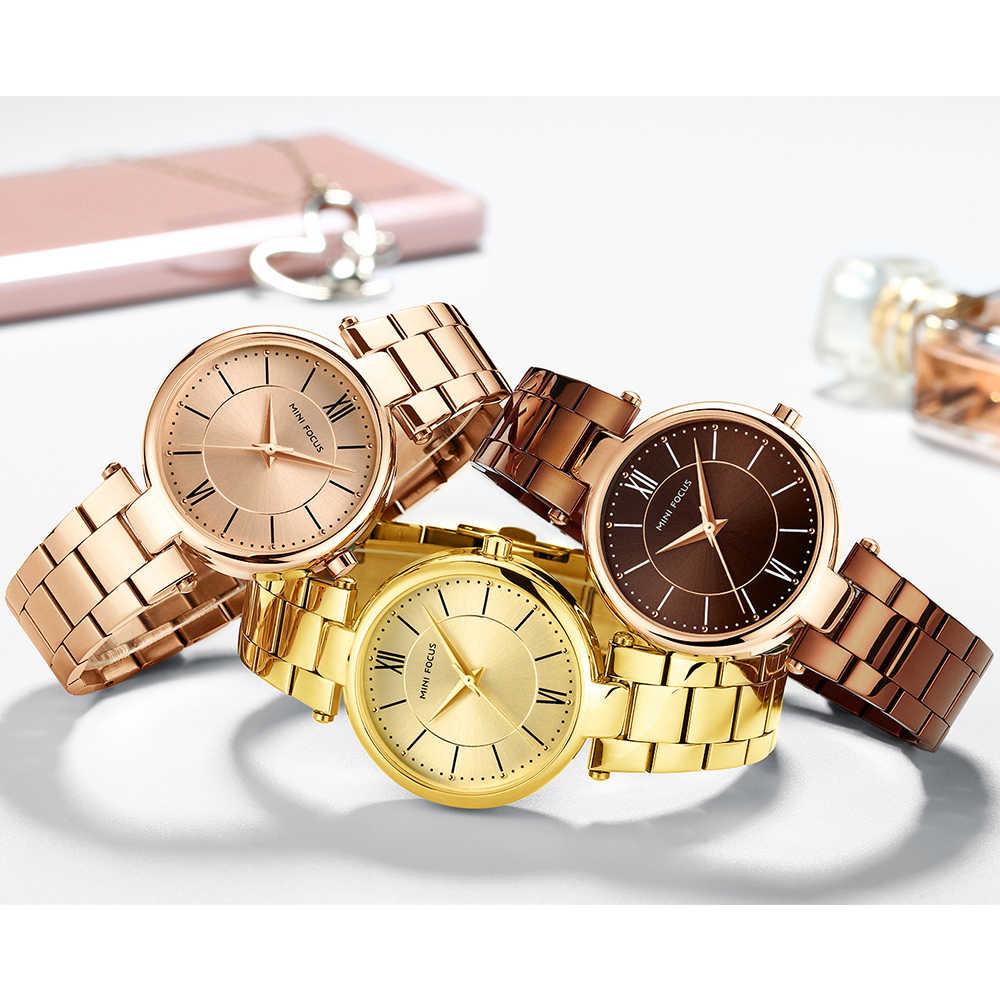 ミニフォーカス女性高級ブランド腕時計 2019 シンプルな黄金の女性腕時計超薄型ゴールド腕時計女性腕時計リロイ Mujer 2019