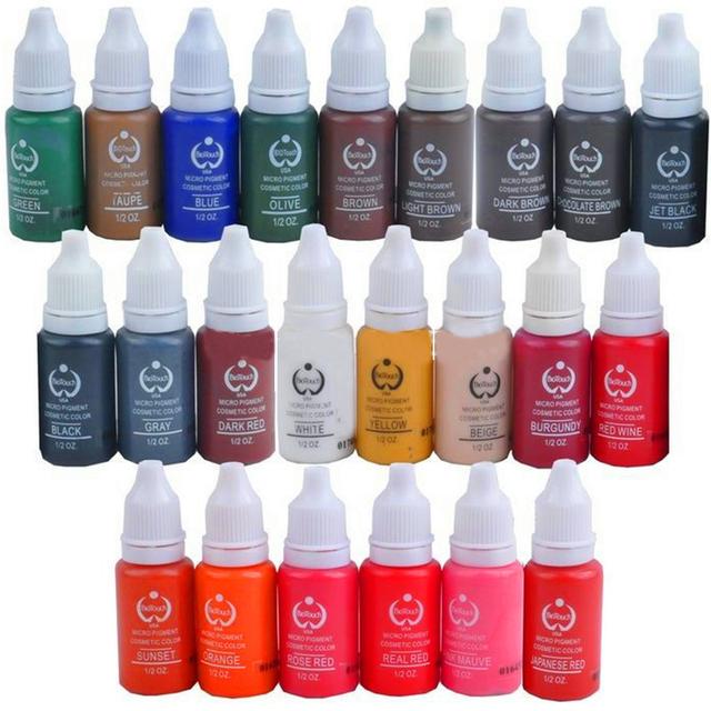 Solong Tattoo Moda Permanente Lábio Sobrancelha Pestana Maquiagem Pigmento 1/2 OZ Ink Tattoo PI101-15-23