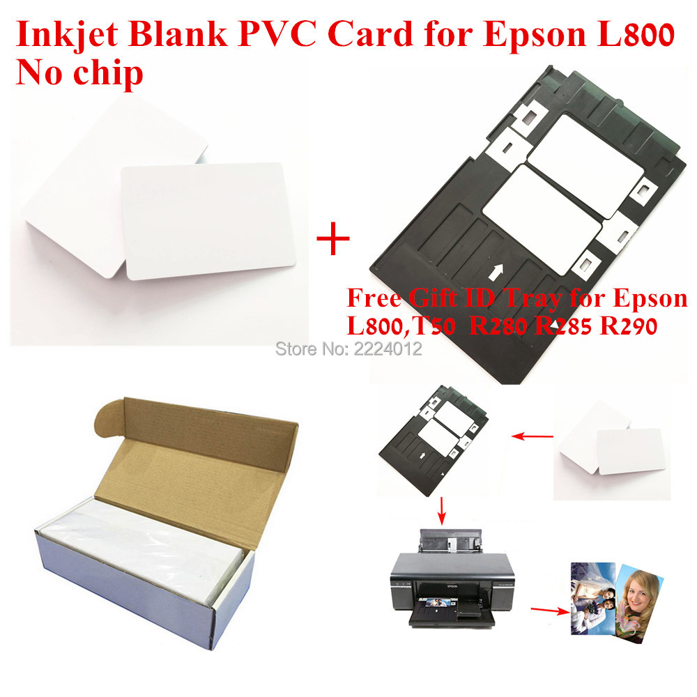 200PCS/LOT Premium Blank White PVC Inkjet Printable Card ( No chip ) Double Side Printing For All Inkjet Printers 230pcs lot printable blank inkjet pvc id cards for canon epson printer p50 a50 t50 t60 r390 l800