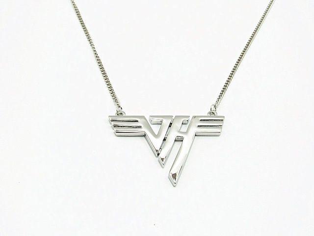 American Band Eddie Van Halen Vh Logo Pendant Necklace In Chain