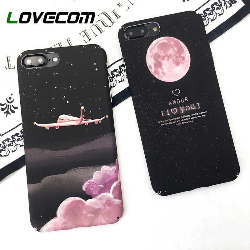 Lovecom aeronaves estrelas caso de telefone para iphone 11 pro max xr 5 5S 6 s 7 8 plus x legal planeta lua universo telefone duro capa traseira