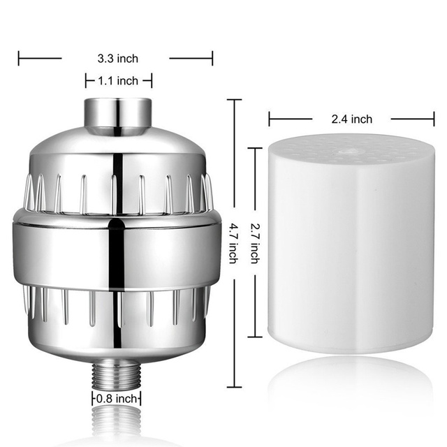 High Output Multi-Stage Universal Shower Water Filter For Hard Water - Shower Head Filter Remove Chlorine  1
