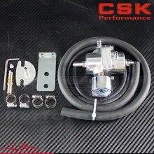 Алюминиевый 0-140 PSI Регулируемый регулятор высокого давления топлива+ датчик+ шланг/трубка