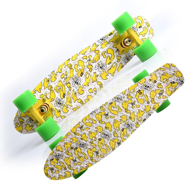2018 Пастель Цветной доски пены 22 Pnny мини Cruiser Скейтборд Доска Таблас de skate совета погрузили скейтборд полный