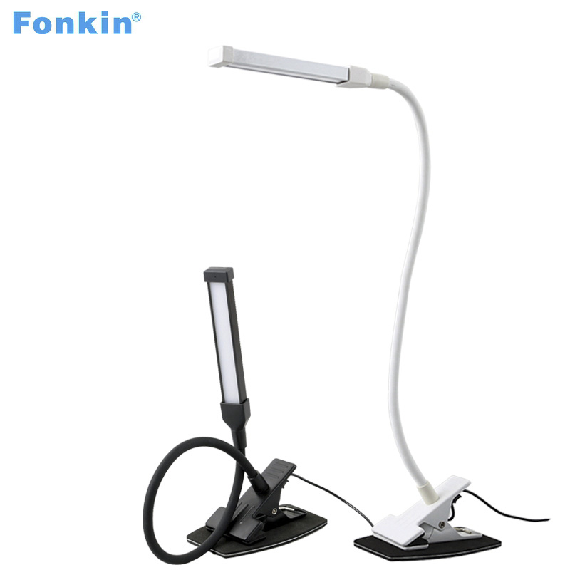 Fonkin Table Lamp With Clip Led Desk Lamp Usb Charger With Clamp Lamp Table For Bedroom