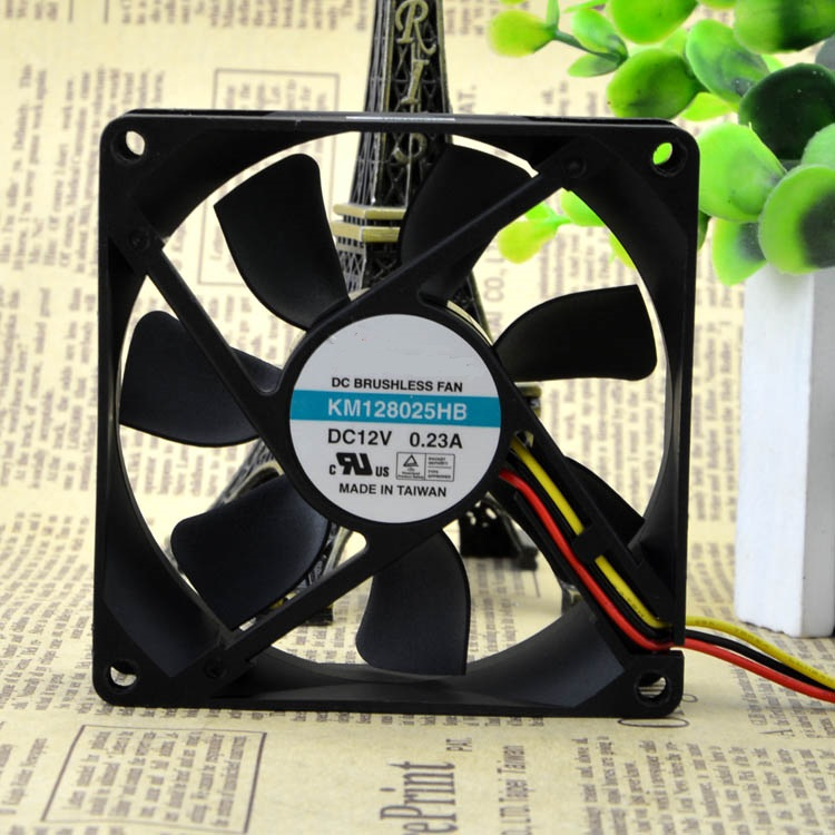 New original 8025 KM128025HB 12V 0.23A two-wire chassis inverter fan