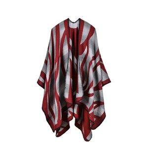 Image 5 - 2019 nuevas bufandas de Invierno para mujer, Ponchos y capas de Cachemira, moda femenina, Pashmina, chal tejido, capa de manto, estolas