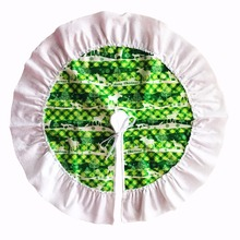 3 Colors 60cm Diameter Deer Pattern Christmas Tree Skirt Xmas Decoration Supplies Merry Home Party Ornaments