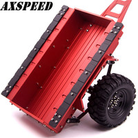 RED good quality 1/10 Scale Aluminum Trailer For SCX10 RC4WD D90 RC Crawler