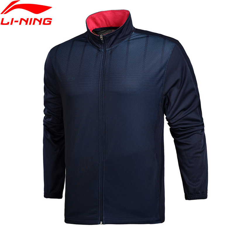 Li-Ning Men Soccer Series Sweater AT DRY Regular Fit 100% Polyester Breathable LiNing Sport Coat AWDM485 MWW1352 men at arms