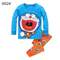 Baby Boys Autumn Cotton Character Cartoon Clothing Set hoody Pants two pieces long sleeve casual Blue Size for 2,3,4,5,6,7 years
