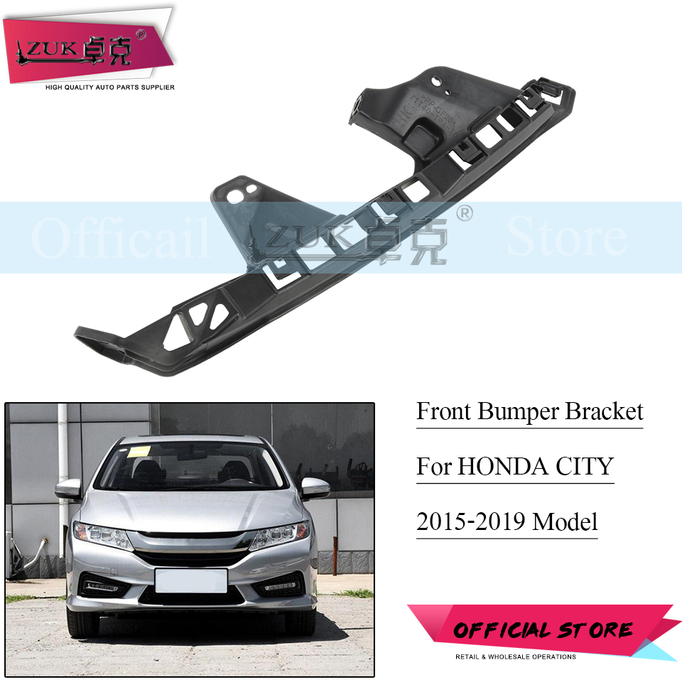 Pair FRONT BUMPER BRACKET HOLDER SUPPORT For 2013-2018 HONDA ACCORD CROSSTOUR