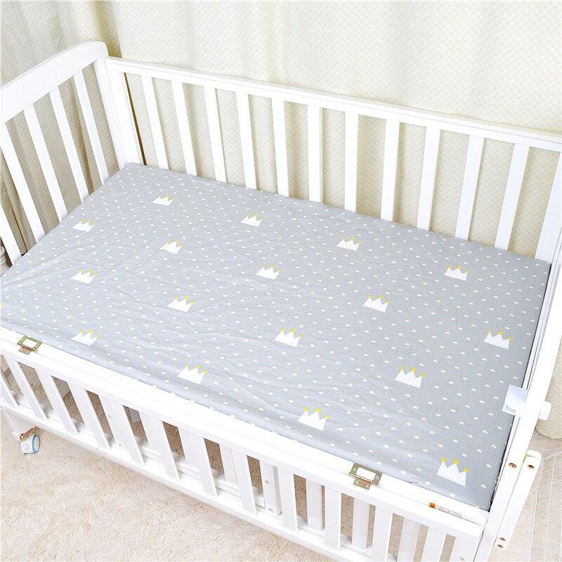 120*65 см детский матрас облака Фламинго Хлопок Дышащие простыни детские постельные принадлежности Детская кровать Чехол Новорожденный Фотография реквизит - Цвет: Grey crown