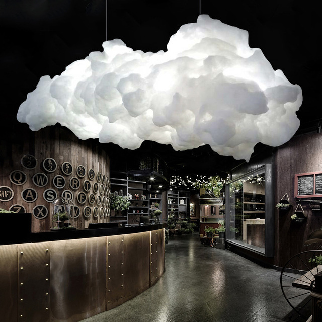 Cotton Floating Cloud Pendant Light