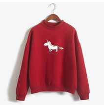 casual sweet pullover woman sweatshirt cartoon unicorn long sleeve autumn and spring o-neck female