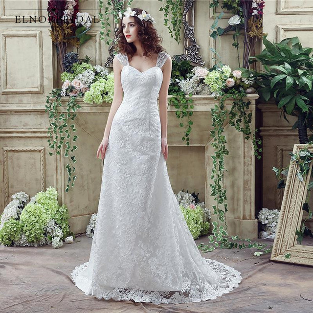 Vintage Bohemian Lace Wedding Dresses Mermaid 2018 Corset Back ...