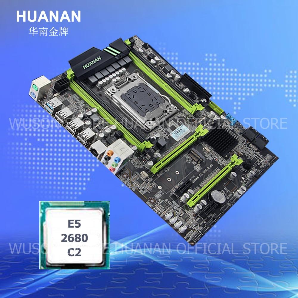 HUANAN V2.49 X79 motherboard CPU combos CPU Intel Xeon E5 2680 C2 2.7GHz RAM 4 slots support 4*16G memory M.2 PCI-E NVME deluxe edition huanan x79 lga2011 motherboard cpu ram combos xeon e5 1650 c2 ram 16g 4 4g ddr3 1333mhz recc gift cooler