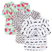 Baby Bibs Long Sleeve Baberos Bebes Waterproof Newborn Unicorn Print Burp Cloths Baby Feeding Bibs Apron цена 2017
