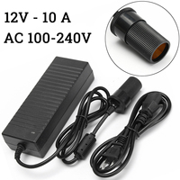 120W Car Power Adapter Converter with Cigarette Lighter Plug AC 100 240V to DC 12V Cigarette Lighter Plug Socket Charger
