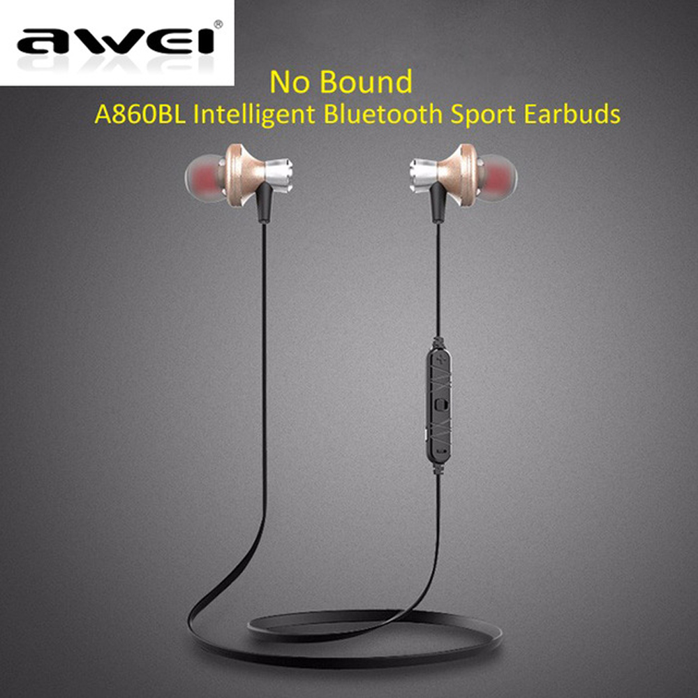 Awei Sport Earbuds Headset In-Ear Cordless Wireless Headphone Blutooth Auriculares Bluetooth Earphone For Your In Ear Phone Buds new guitar shape r9030 bluetooth stereo earphone in ear long standby headset headphone with microphone earbuds for smartphones