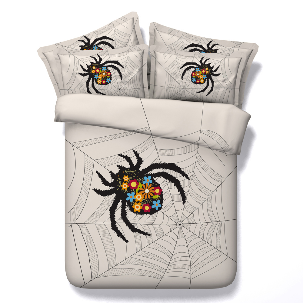Horrible Spider Printed Comforter Bedding Sets Twin Full Queen Super Cal King Size Bed Sheets Duvet Covers Christmas Adult Child