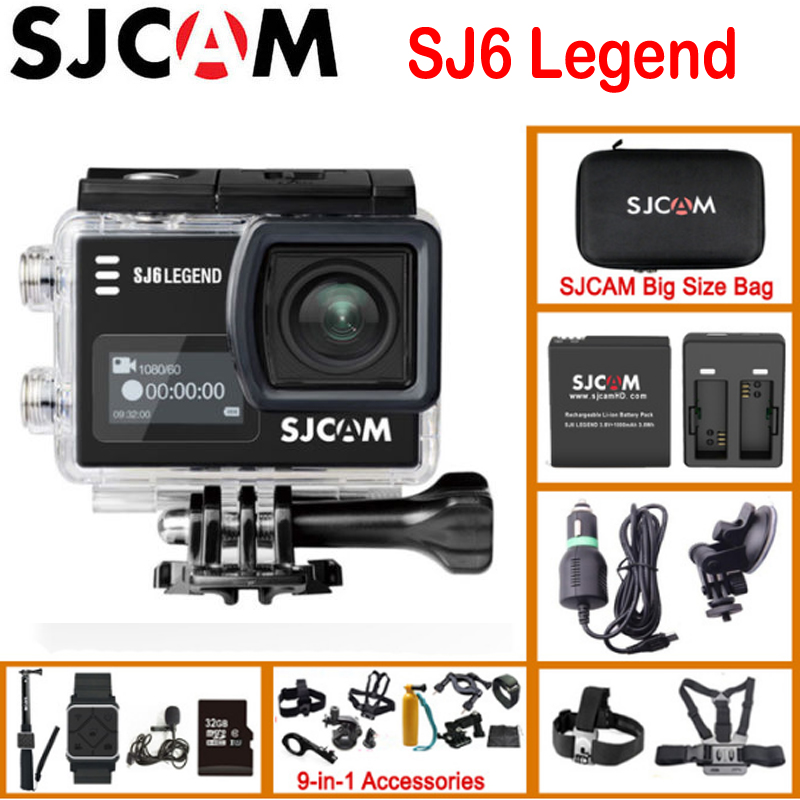 "SJCAM SJ6 Legend Gyro Action Helmet Sports DV Camera Waterproof 4K NTK96660 2.0"" Touch Screen Sport Video DVR(China)"