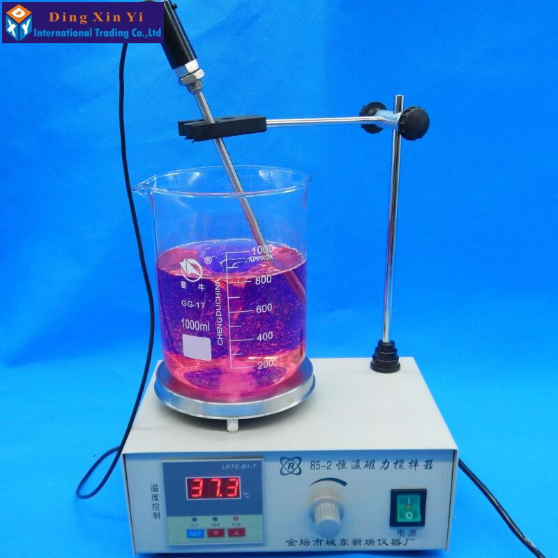 lab agitator Digital magnetic stirring apparatus Temperature display heating magnetic whisk Laboratory beaker mixing tools magnetic stirring electric heating sleeve hj 6a intelligent 2000ml