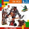 734 шт. Ниндзя Новый 10583 эра Iron Doom DIY Модель Строительство Комплект Совместимо с Lego Блоки Игрушки Playset