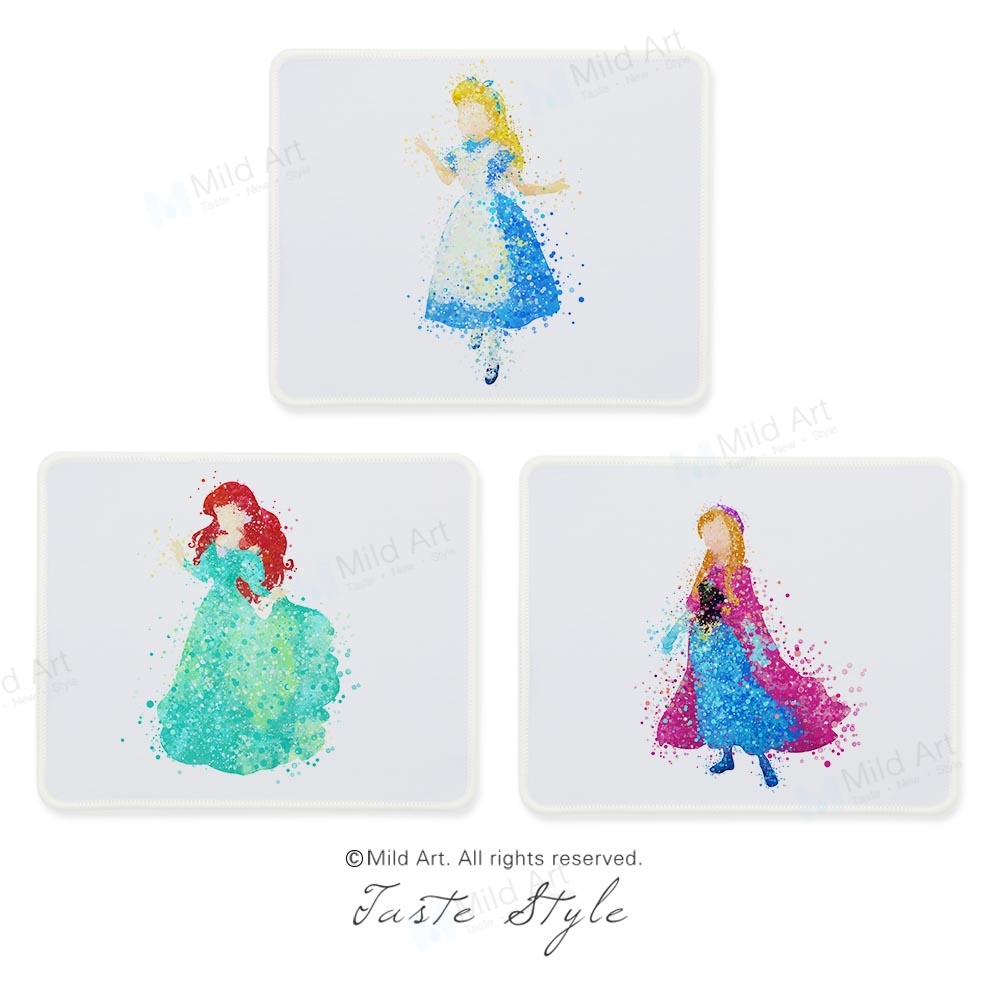 Watercolor Abstract Princess Fairy Figure Cartoon Anime Pop Movie Custom Prints Girl Gift PC Gaming Computer Mouse Pads Mats Set