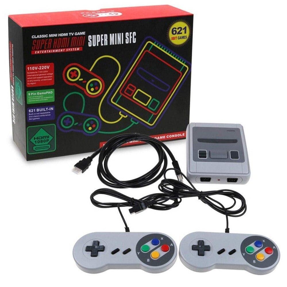 Animuss Mini TV Console de jeu 8 bits rétro Console de jeu vidéo intégré 500 jeux lecteur de jeu portable meilleur cadeau