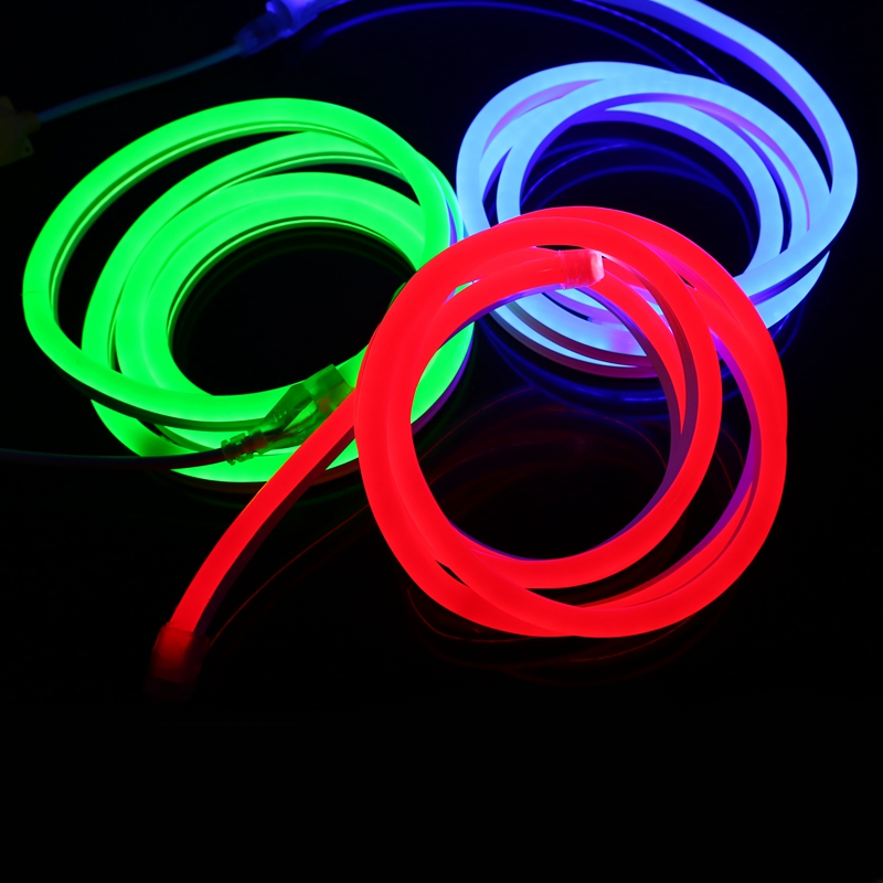 200m RGB neon rope with size : W9 10mm x H17 18mm + 2 pieces controller