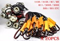 20PCS H11 1156 3156-A 50W 6ohm Gold Fuse LED Bulbs Fog Turn Brake Signal Load Resistor Wiring Canbus Error Fix Flash Blink Hyper