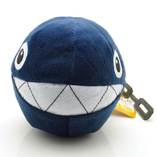 New Nintendo Super Mario Chain Chomp Plush Toys Doll 5   Black Shark Ball  Soft 4b35593f8