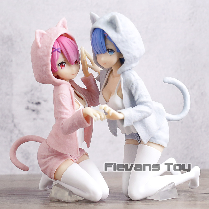 Re: Starting Life In A Different World From Zero Ram / Rem Nyako Pajamas Ver. PVC Figure Toys Collectible Moel DollsRe: Starting Life In A Different World From Zero Ram / Rem Nyako Pajamas Ver. PVC Figure Toys Collectible Moel Dolls