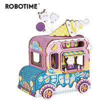 Robotime New Arrival DIY 3D Moving Flavor Wooden Puzzle Game Assembly Moveable Music Box Toy Gift for Children Kids Adult AMD61