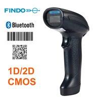 2 pz FINDO 1d 2d USB 2.0 wired + Wireles Bluetooth Scanner di codici a barre COMS Imaging Lettori di Codici a Barre con Protezione Durevole disegno