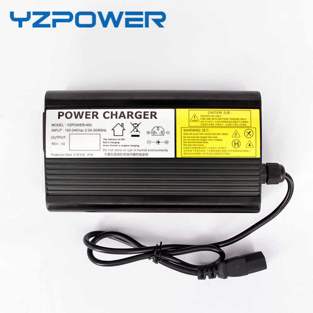 YZPOWER Auto-Stop 54.6 v 5A Lithium Batterij Lader Voor 48 v Li-Ion Lipo Accu Cooling met Ventilator binnenkant Aluminium Case